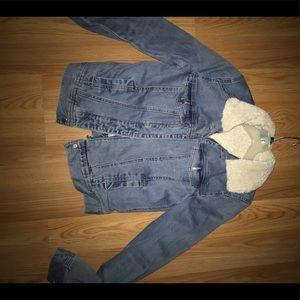 H&M Jackets & Coats - H&M Denim Sherpa lined